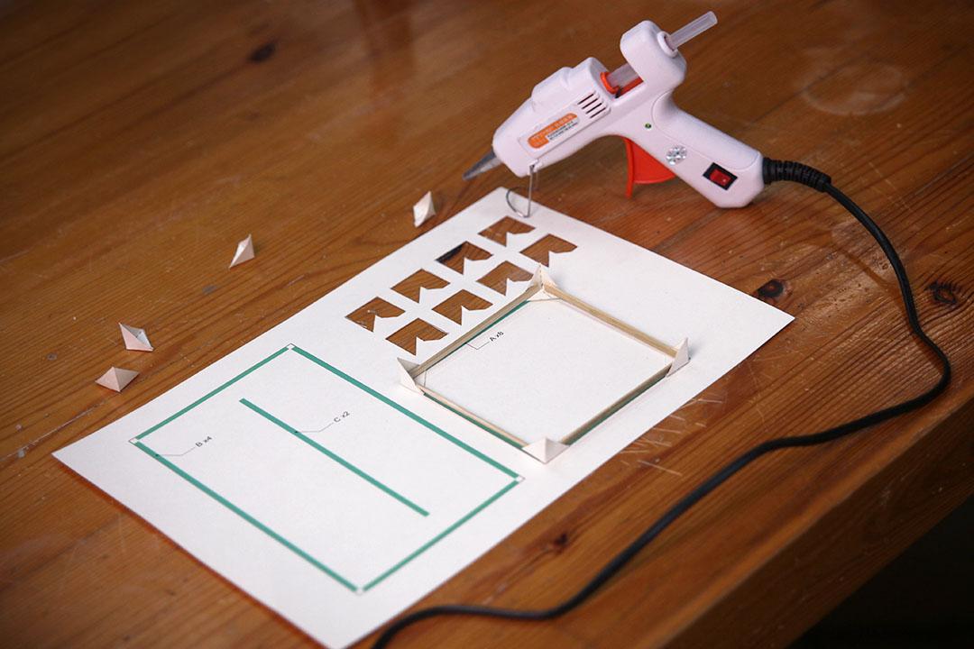 手工纸灯笼制作流程-方形灯笼